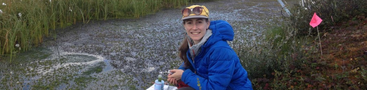 NRESS Ph.D. student Sophie Burke in peatland