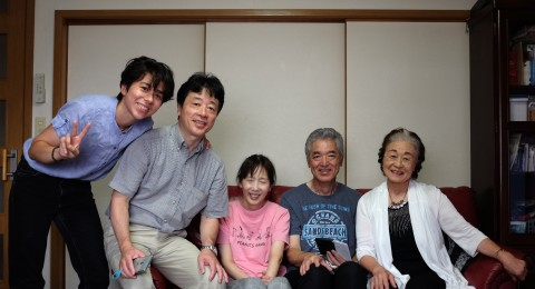 Anna Ohara with family in Japan