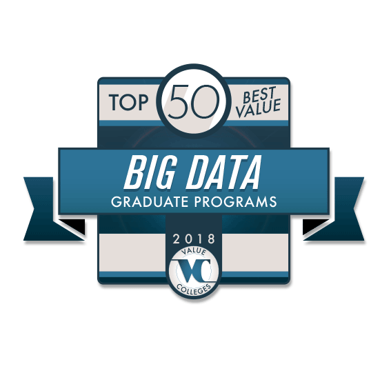 Top 50 best value big data graduate programs logo